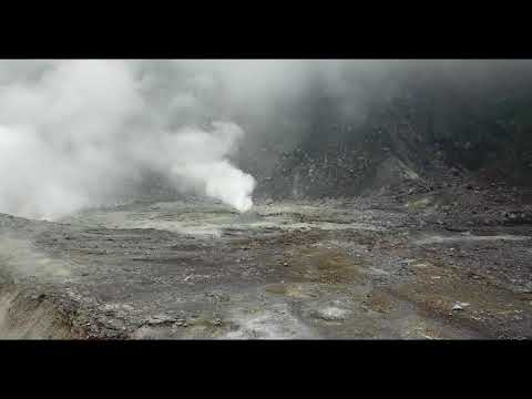 Inside The Crater Of Kaba Volcano - Drone Footage