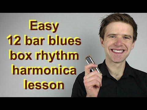 Awesome Easy Beginner 12 Bar Blues 'box Rhythm' - Beginner Harmonica Lesson On C Diatonic Harmonica