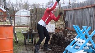 соток 16 апреля Как повысить плодородие земли или... Как я буду сеять огурцы.
