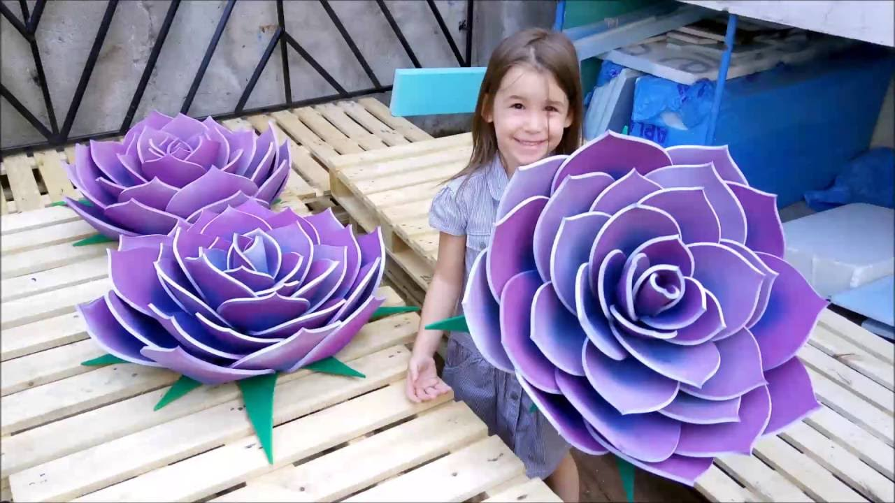How To Make A Giant Flower From Yoga Mats Watch And Learn