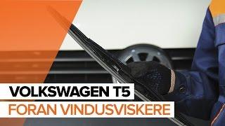 Hvordan bytte Viskerblader VW TRANSPORTER V Platform/Chassis (7JD, 7JE, 7JL, 7JY, 7JZ, 7FD) - online gratis video