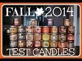 Bath Body Works Fall 2014 Test Candles Haul