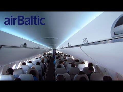 TRIP REPORT | Air Baltic CS300 | Amsterdam to Riga | Economy Class | Full Flight (Full HD)