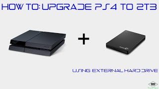 How to Upgrade PS4 to 2TB and make Old Hard Drive an External Hard Drive