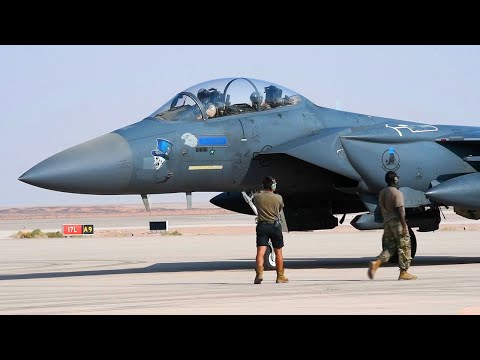 F-15s Fighter Jet at Prince Sultan Air Base, Saudi Arabia