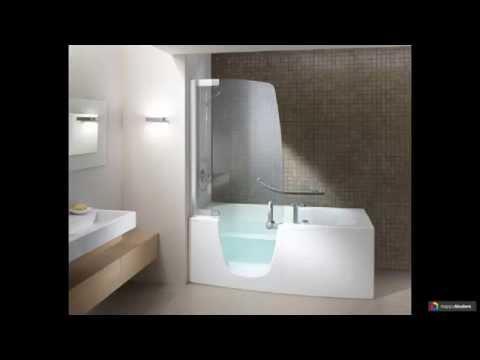 Стеклянные раздвижные шторки для ванны 46 вариантов
