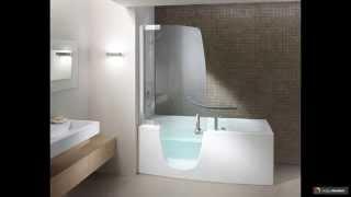 видео Шторки для ванной стеклянные раздвижные