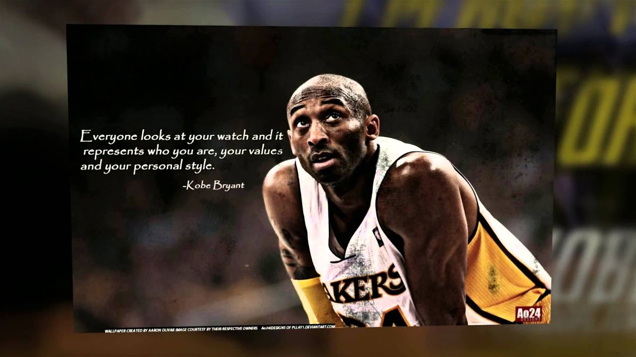 Kobe Bryant Quotes Kobe Bryant Inspirational Quotes  Youtube