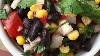 Black Bean Salsa Recipe - How to Make Fresh, Homemade, Delicious Black Bean Salsa