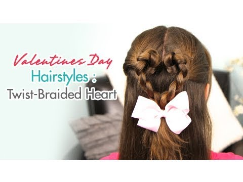 Twist-Braided Heart | Valentines Day Hairstyles | Cute Girls Hairstyles Mp3