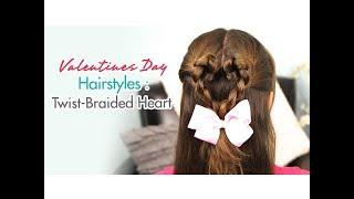 Twist-Braided Heart | Valentines Day Hairstyles | Cute Girls Hairstyles