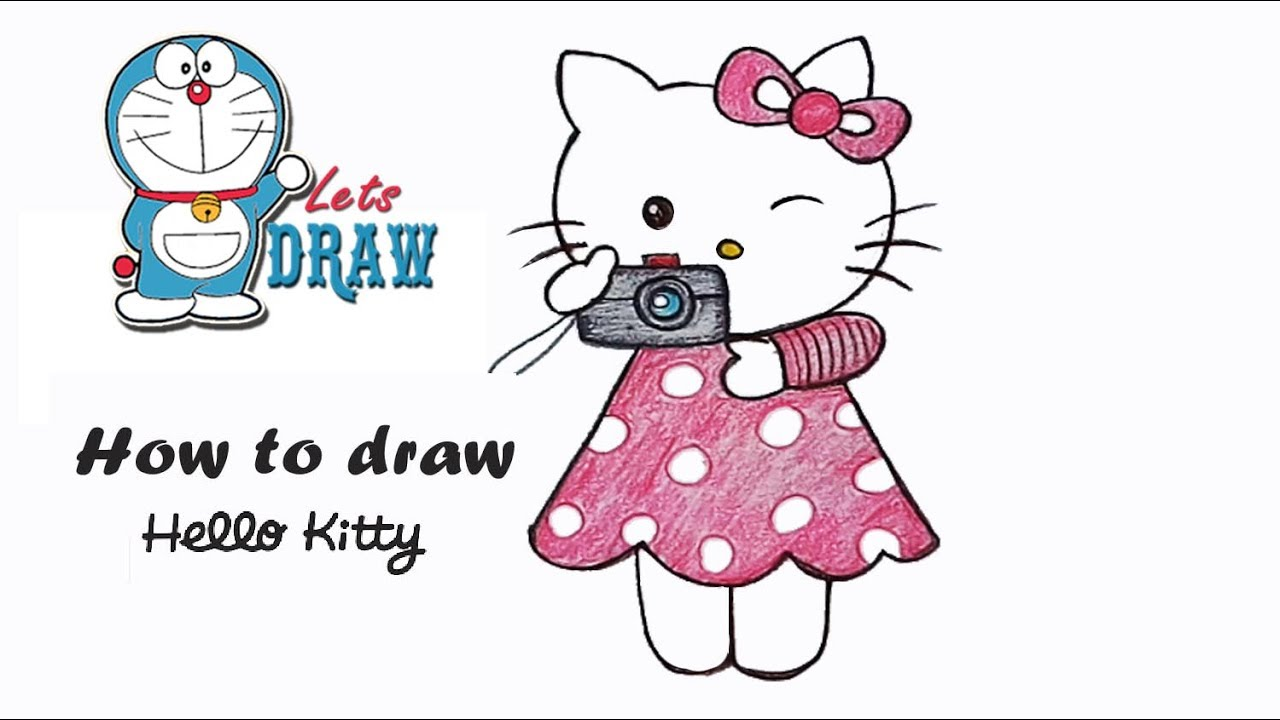 How To Draw Hello Kitty Step By Step Very Easy Youtube