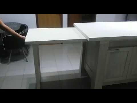 Isla De Cocina Extensible Plegablemadera Maciza De Roble Youtube
