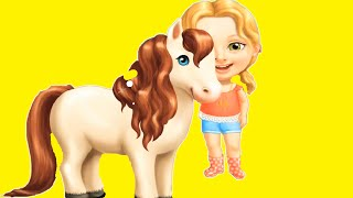 Baby Play with Sweet Baby Girl Summer Fun Include Hair Salon, Horse Pet Care, Villa Decoration