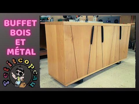 fabrication buffet bois et métal