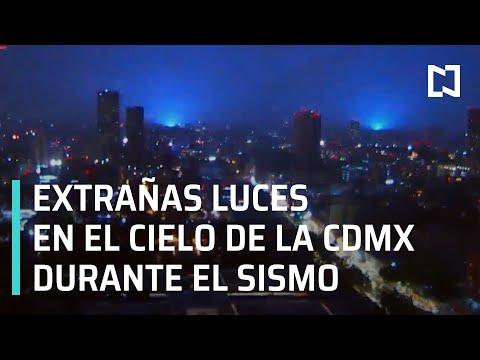 Luces en el cielo en CDMX durante sismo magnitud 8.1 con epicentro en Guerrero - Las Noticias
