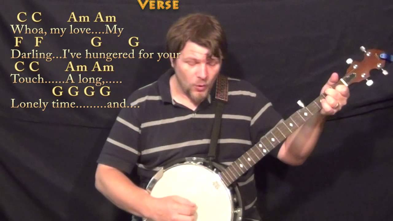 Unchained Melody Banjo Cover Lesson In C With Chordslyrics Youtube