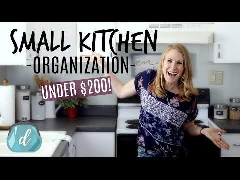 *NEW!* Organizing a SMALL kitchen for under $200! 🙌