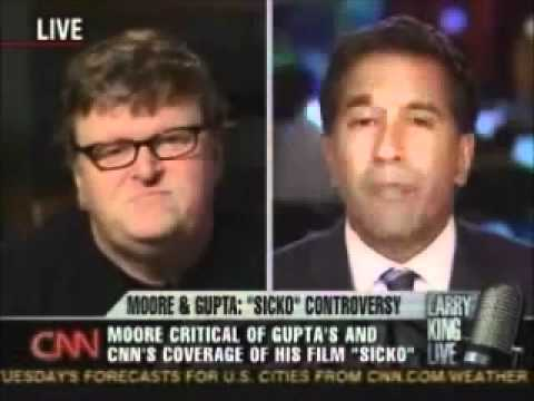 Michael Moore Goes Head to Head with Dr. Sanjay Gupta  Parts 1 and 2