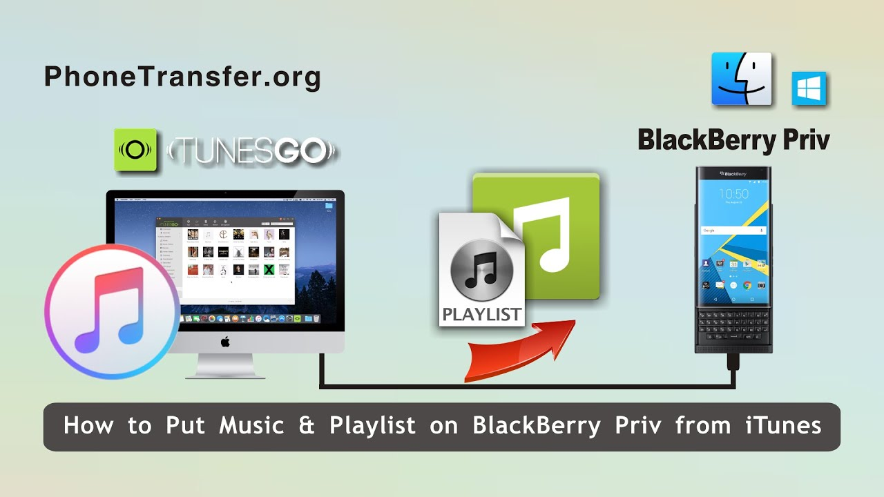 How to copy music from blackberry priv to itunes, sync blackberry.