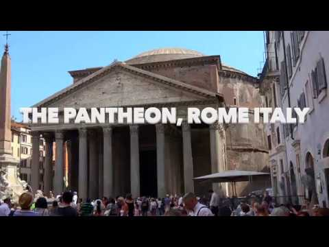 Pantheon, Rome Italy In 4K - 2016 (Sony AX53)