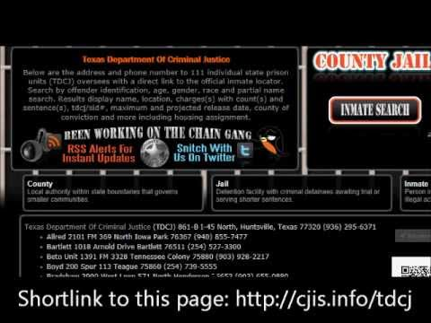 Using The TDCJ Offender Search - County Jail Inmate Search