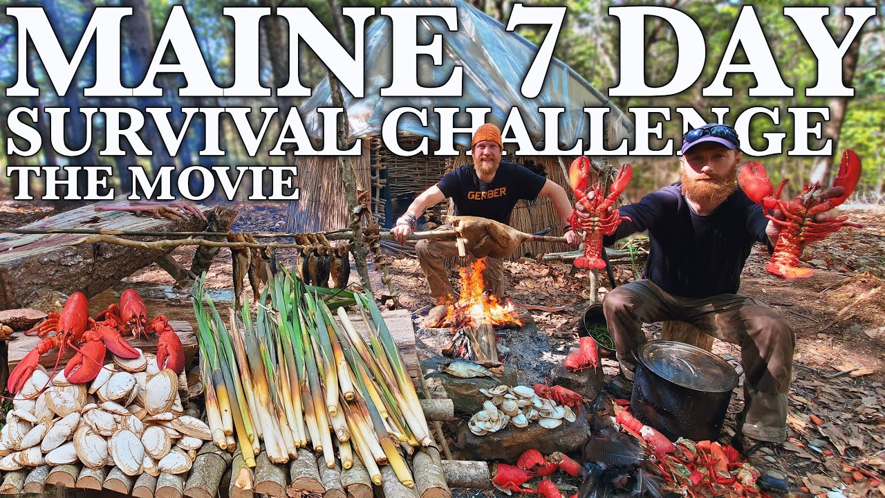 7 Day Catch & Cook Survival Challenge - Maine, The Movie