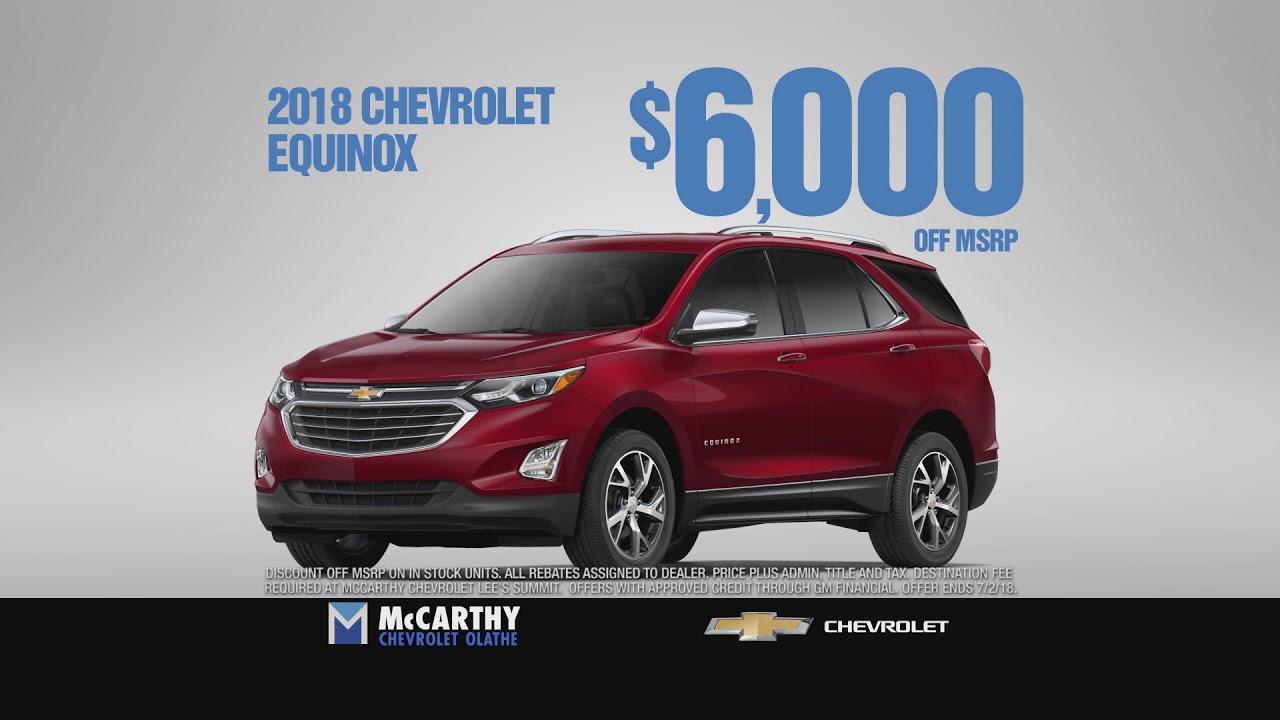 Mccarthy Chevrolet Olathe >> Mccarthy Chevrolet Olathe Save 6 000 On Equinox Youtube