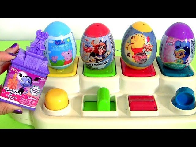 Sesame Street POP UP TOYS SURPRISE Peppa Pig, Vampirina, Shimmer and Shine