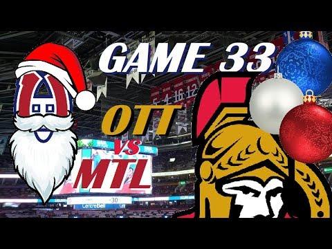 NHL - Montreal Canadiens vs Ottawa Senators - Third Time's the Charm! - December 15, 2018