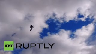 Superman is that you? Jetpack man flying over Dublin