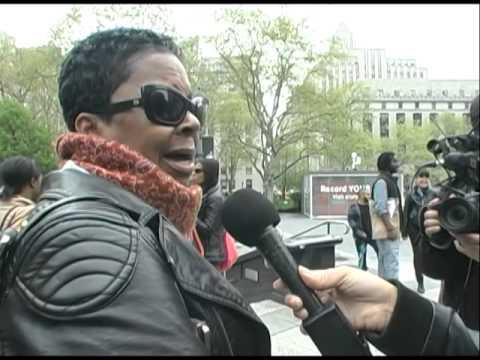 Carol, mother of #KimaniGray interviewed by #RebelDiaz at #RamarleyGraham rally