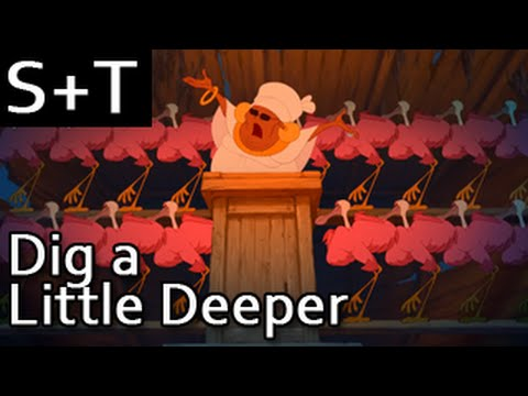 The Princess and the Frog - Dig a Little Deeper - Hebrew (Subs+Translation)