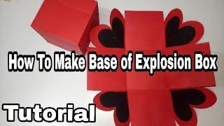 How To Make Base of Explosion Box..Full Tutorial (Black N Red Love Explosion Box)ArtsHub Handmades