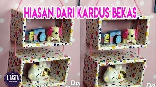 Video IDE KREATIF MEMBUAT RAK HIASAN DINDING KAMAR DARI KARDUS BEKAS | DIY HOME DECOR download MP3, 3GP, MP4, WEBM, AVI, FLV April 2018