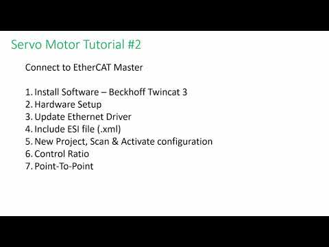 Hiwin E Series - Servo Motor Tutorial 2 – COM with EtherCAT Master