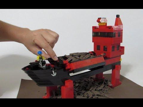 Lego Split Hopper Scow Barge Supreme Integrated Technology Trade Show Display Lego MOC Model