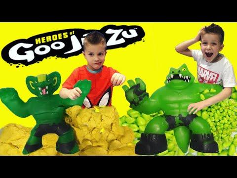 Что дети сделали с ГУДЖИТСУ?  Самый неожиданный эксперимент с  Heroes Of Goo Jit Zu? // KiFill Boys
