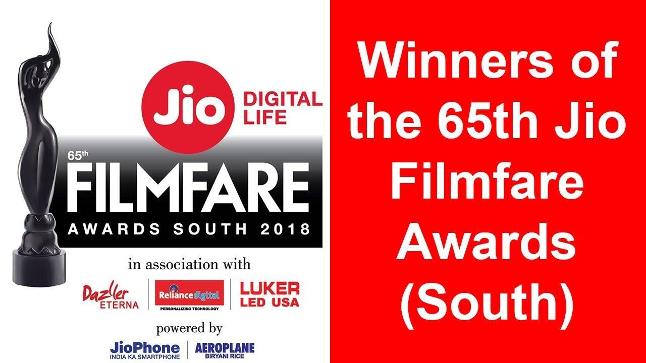 Winners   65th Jio Filmfare Awards   Telugu   Tamil   Malayalam   Kannada