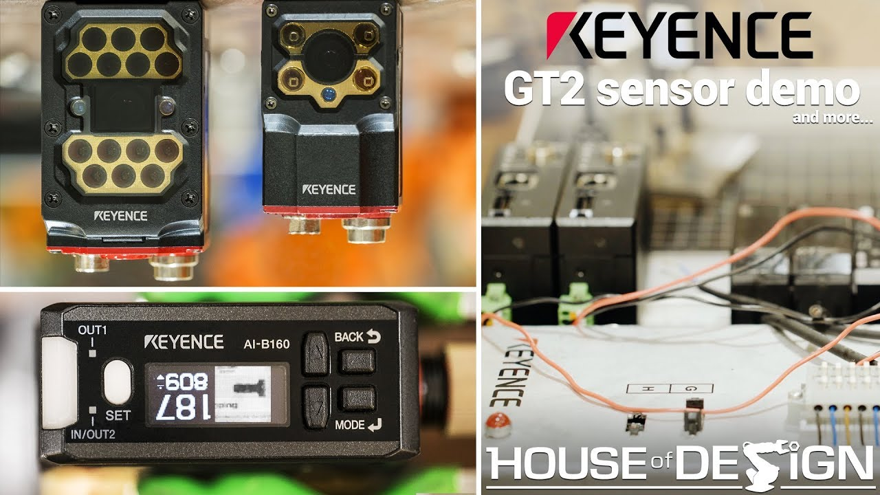 Keyence GT2 series digital contact sensor demo - House of Design Robotics