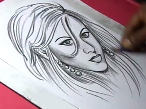How To Draw American Singer Songwriter And Actress Christina Aguilera Drawing Youtube