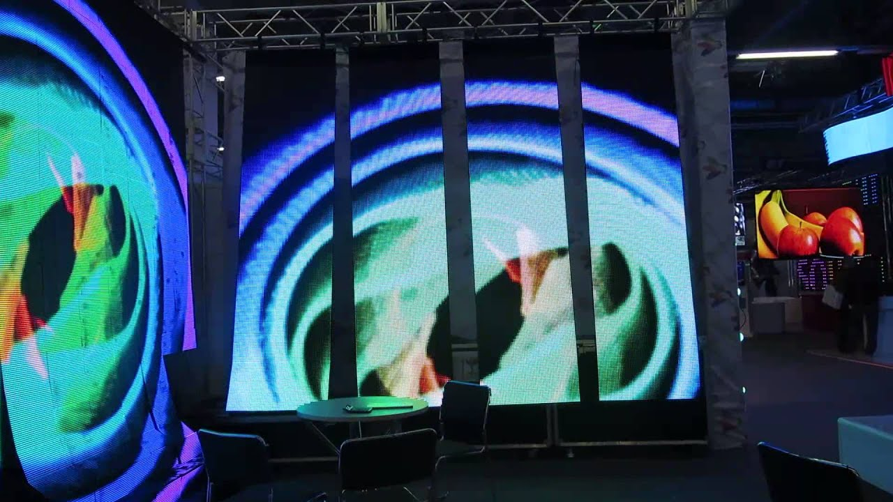 Led curtain concert - Galaxies 12 P12 5mm Flexible Led Panel Display Backgound For Concert Event Dj Stage Club