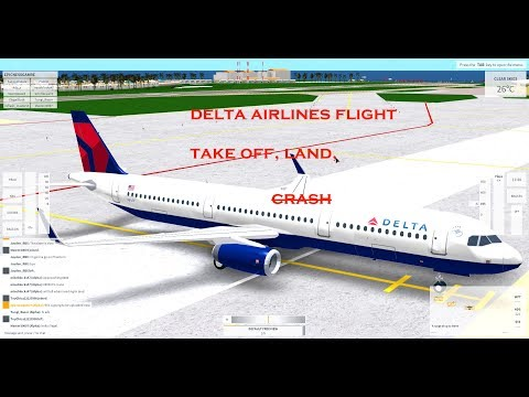 Delta Airlines Flight [ROBLOX] Take Off, Land, Cr-