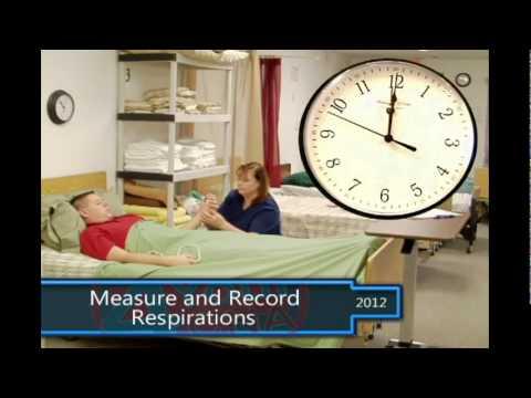 Measure And Record Respirations CNA Skills