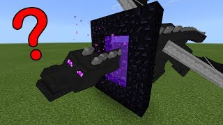 What Happens When the Ender Dragon Flies Into a Nether Portal in Minecraft PE? | MCPE Journalist