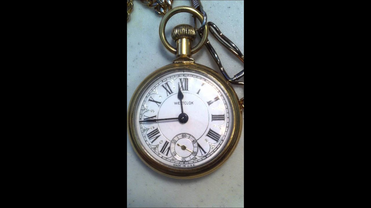 Westclox Train Pocket Watch