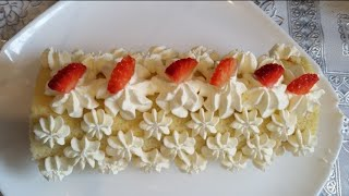 Strawberry swiss roll by Delicious food recipes