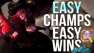 5 easiest champions to play for winning in solo queue in 2018 season 8