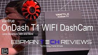 Vantrue T1 WIFI Dash Cam 2k with Lane Departure & Collision Notification