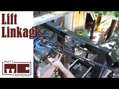 Sawhead Lift Motor and Chain Linkage - Building a Large Bandsaw Mill - Part  20